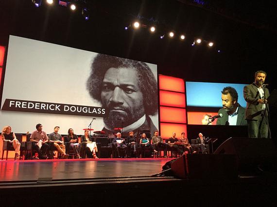 Actor Brian Jones presenting a speech by Frederick Douglass
